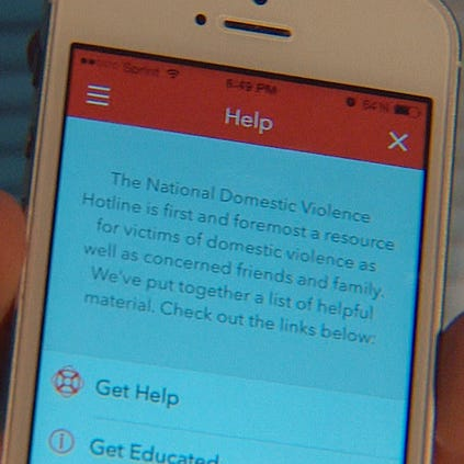 App for domestic violence victims