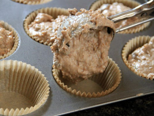 Loading a Muffin Pan