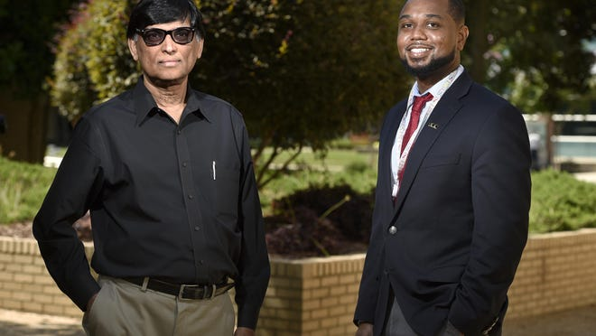 Dr. Varghese George, left, and Dr. Justin Moore photographed at Augusta University in Augusta, Ga., Monday morning June 1, 2020.