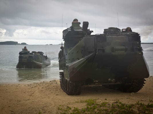 LF CARAT Marines land on Reserve Craft Beach.