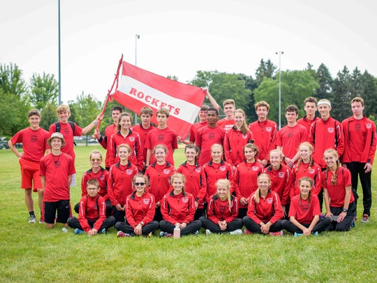 The South Milwaukee cross-country team included (from