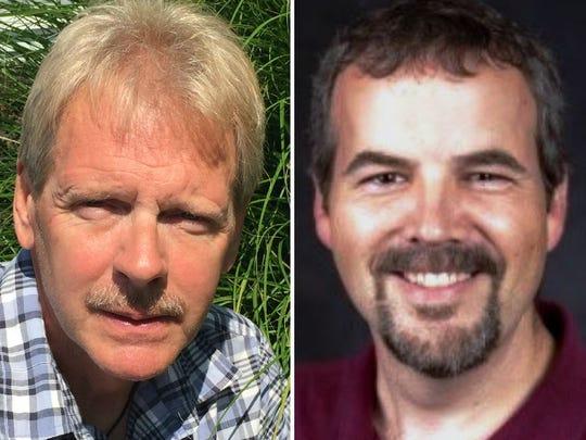 Paul Malewski (left) defeated incumbent Steven Platte