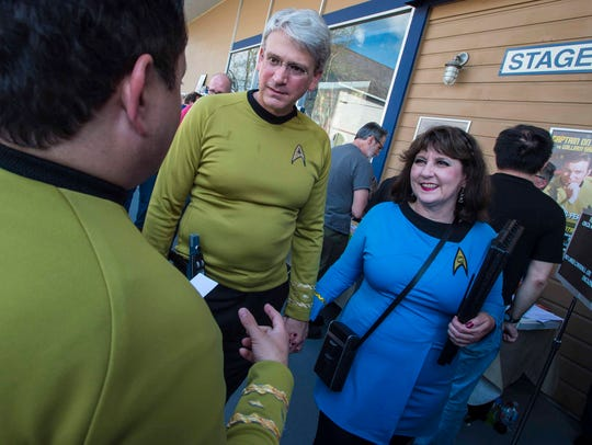 Star Trek fans gather outside Star Trek Original Set