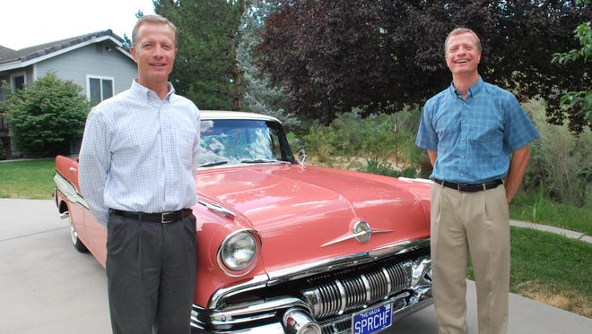 Shawn and Kevin Reid restored this 1957 Pontiac Super Chief in memory of their late father. They will enter the car in Hot August Nights this year.