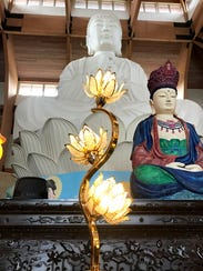 The Chuang Yen Monastery in Carmel, photographed April