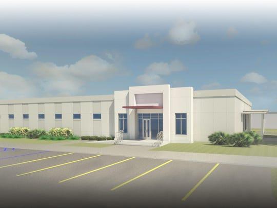 Rendering of FSU PrimaryHealth being built at Eisenhower