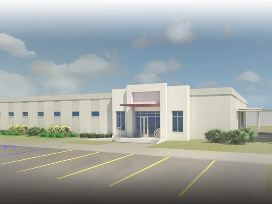 Rendering of FSU PrimaryHealth being built at Eisenhower