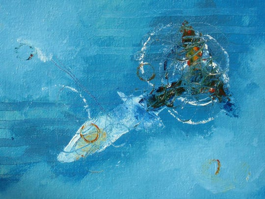 """Sea Warrior"" by Faith Frykman, one of the artists taking part in the Sturgeon Bay Holiday Art Crawl on Nov. 21 and 22."
