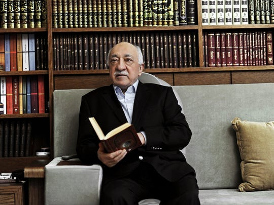 In this March 15, 2014 file photo, Turkish Muslim cleric Fethullah Gulen, sits at his residence in Saylorsburg, Pennsylvania.