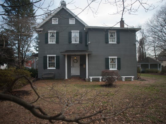 """An exterior of the """"haunted"""" Walt Whitman House in"""