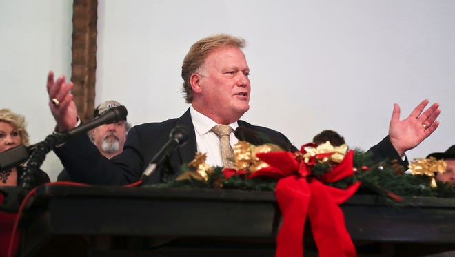 """""""The people who run for office are just people, and there are no perfect people,"""" said Kentucky state Rep. Dan Johnson as he spoke to the media Tuesday, Dec. 12, 2017, from his Heart of Fire Church in Louisville. Johnson said sexual abuse allegations made in an article published by the Kentucky Center for Investigative Reporting are """"without merit."""" Johnson was found dead by a self-inflicted gunshot wound to the head Wednesday, Dec. 13, 2017."""