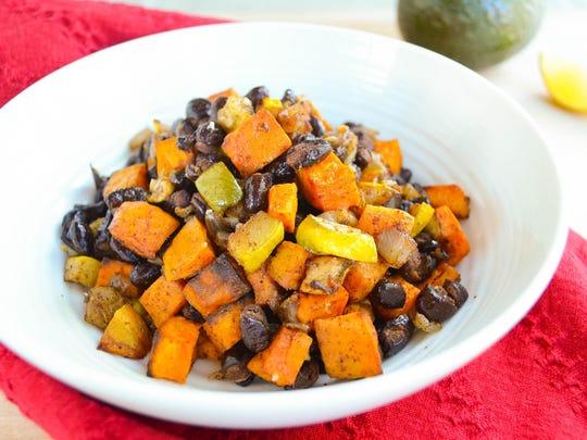 Black Bean and Sweet Potato Hash.
