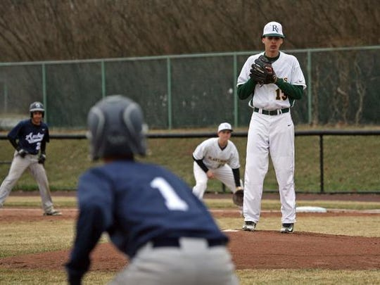 Piscataway Tech's baseball pitcher Richard Santana