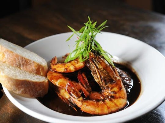 BBQ shrimp at Roux on Bardstown Road. April 24, 2015