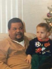 Israel Nash with his dad, Keith.