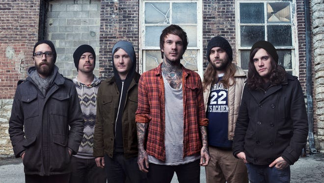 """The members of Chiodos, from left: Matt Goddard, Derrick Frost, Pat Mcmanaman, Craig Owens, Bradley Bell and Thomas Erak. The band will release its new album, """"Devil,"""" April 1."""