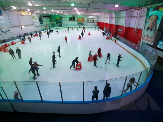 Skating at Bill Gray's Regional Iceplex.