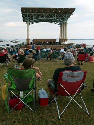 Local residents and visitors  fill the Vince J. Whibbs Sr. Community Maritime Park for the inaugural Memorial Day Concert featuring the Pensacola Civic Band.