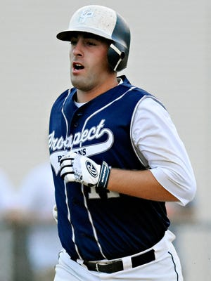East Prospect's Ryky Smith, seen here in a file photo, had five hits and eight RBIs over two games this past weekend for the Pistons.