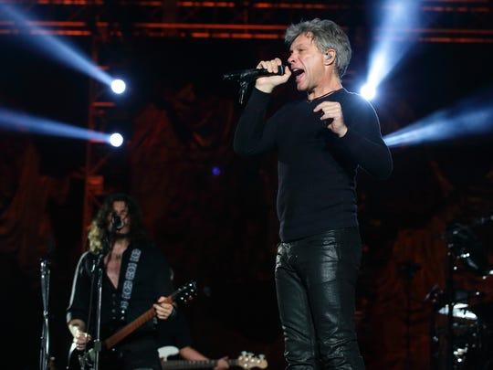 Bon Jovi last month in  Singapore.