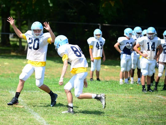 Cape Henlopen Varsity football defensive backs practice