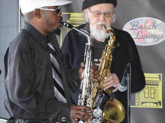 B Rich Jazz and Roy Carter of the band BG3 are seen here in this file photo.
