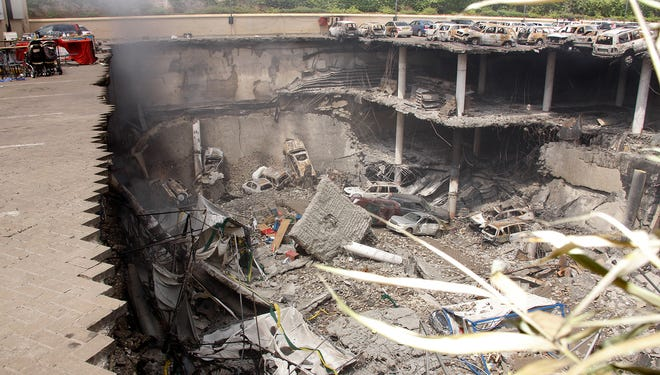 Several floors of a parking garage collapsed during an attack by Somali militants at the Westgate mall in Nairobi, Kenya.