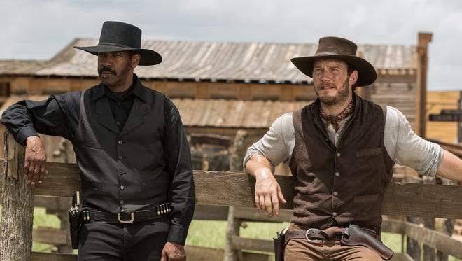 """Denzel Washington, Chris Pratt and Ethan Hawke star in  the remake of the 1960s Western """"The Magnificent Seven."""""""