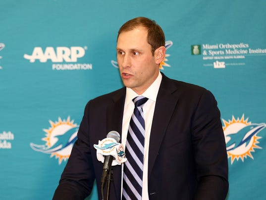 USP NFL: MIAMI DOLPHINS-PRESS CONFERENCE S FBN USA FL