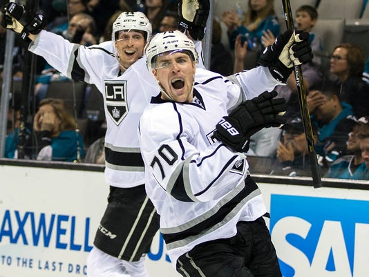 USP NHL: STANLEY CUP PLAYOFFS-LOS ANGELES KINGS AT S HKN USA CA