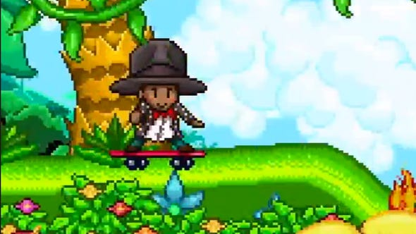 Even an animated Pharrell has a big hat