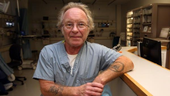 Robert Linscott is photographed at White Plains Hospital Nov. 11, 2014.