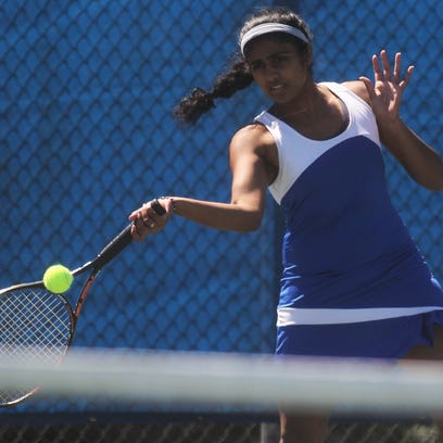 Rickards senior Charitha Moparthy plays during the