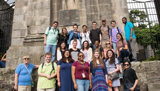 Nineteen students and two faculty members at the University of Louisiana Monroe recently took a two-week trip to San Jose, Costa Rica to enhance their Spanish language skills and learn about the culture.