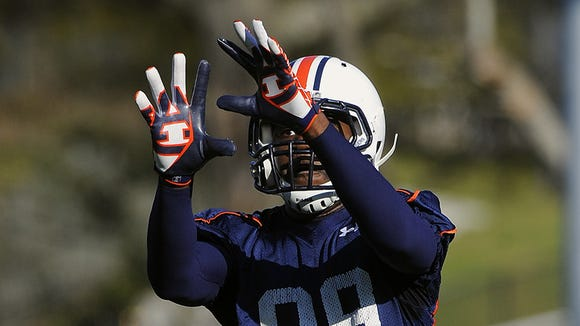 Jaylon Denson missed Tuesday's practice for unspecified reasons.
