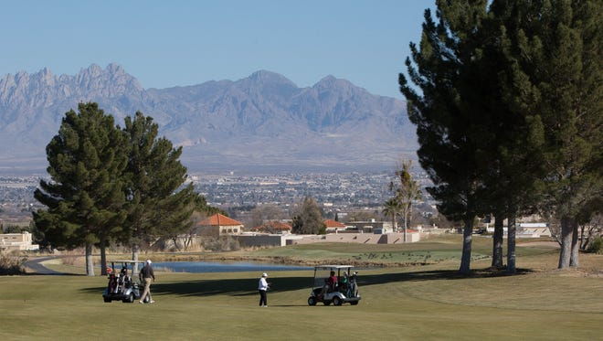 Members of the Picacho Hills Country Club play golf Monday Jan. 29, 2018. The owners of the Picacho Hills Country Club are looking to sell to a nonprofit that plans to open membership to all residents of the Mesilla Valley.