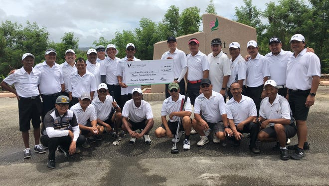 The Eagles Golf Club is shown in this file photo from 2018, when they donated $3,000 to the Guam Shrine Club. The Club, along with Sidelines Bar and Grill, recently suspended their free meals program for safety reasons.