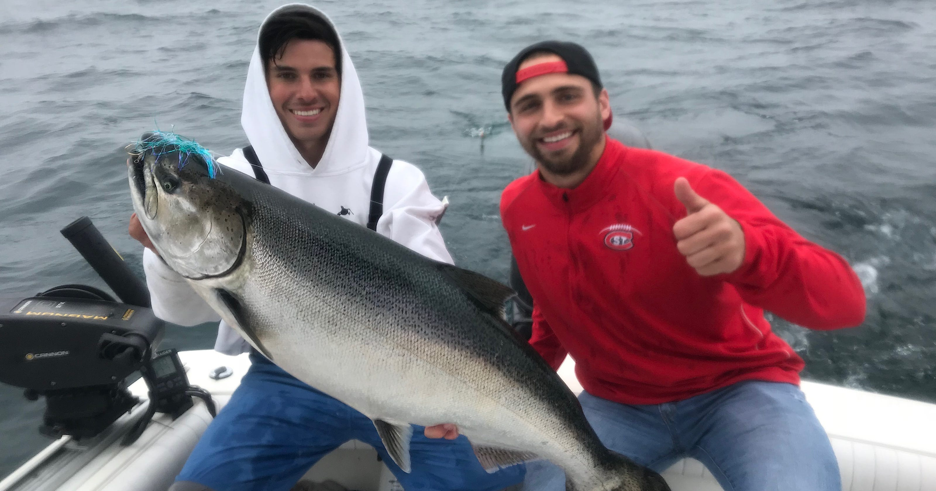 Larger salmon spicing up Lake Michigan catches this year