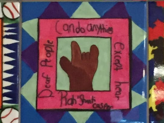 Legacy tile created by Petway Elementary Class of 2016