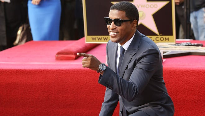 """Kenny """"Babyface"""" Edmonds attends the ceremony honoring him with a star on the Walk of Fame on Oct. 10."""