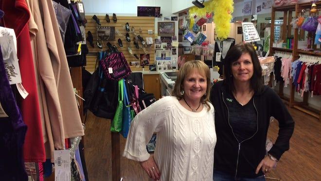 Wendy Wilke and Kathy Sukschek are going into business. Sukschek's Action Dancewear will host Wilke's Frugal Fashion at 452 N. Main St., Oshkosh.