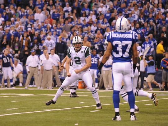 Nick Folk (2) leaves as the Jets' second all-time leader in points, behind only kicker Pat Leahy.
