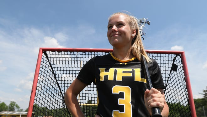 Caitlin Muir of Honeoye Falls-Lima High School is the Spring All Greater Rochester Player of the Year for girls lacrosse.
