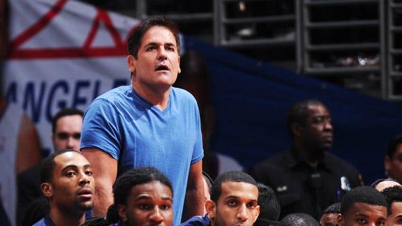 Dallas Mavericks owner Mark Cuban, always a visible presence at games, has his eye on Lance Stephenson