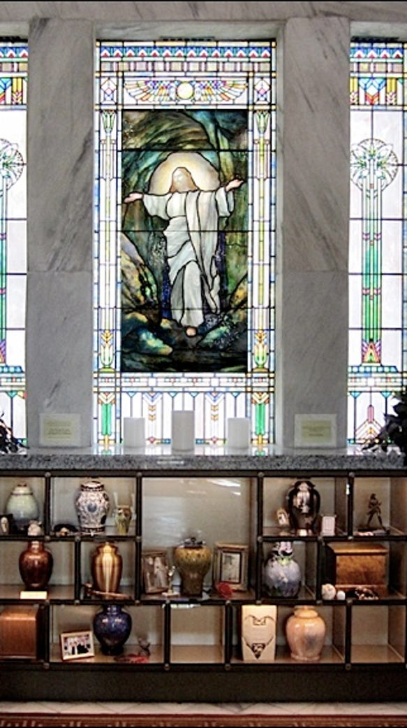 J. Horace Rudy's stained glass appears in buildings,