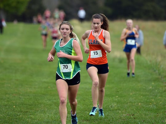Wilson Memorial's Ashtyn Davis won the girls race Saturday at the Augusta County Cross Country Invitational, leading the Green Hornets to the team title.