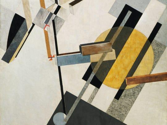 """""""Proun 19D"""" by El Lissitzky. Gesso, oil, varnish, crayon,"""