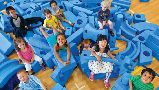 Imagination Playground equipment is designed to encourage creativity and collaboration.