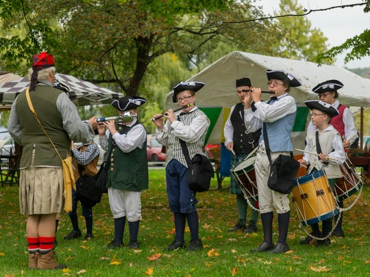 The Finger Lakes Fife and Drum Corps performs Saturday