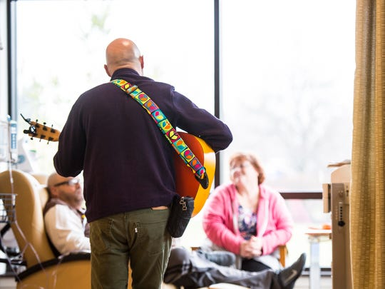 Charlie Lustman, a singer and songwriter, who was diagnosed with bone cancer in his upper jaw travels the across the United States of America singing his songs to other people fighting cancer. On Tuesday, Dec. 13, 2016 his Musical HOPE Campaign Tour stopped at  WellSpan's Sechler Family Cancer Center in North Cornwall Township.